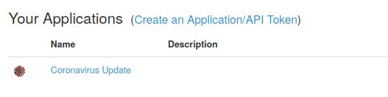 Application erstellen – zum Beispiel Coronavirus Update