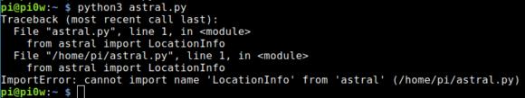Astral kann LocationInfo nicht importieren