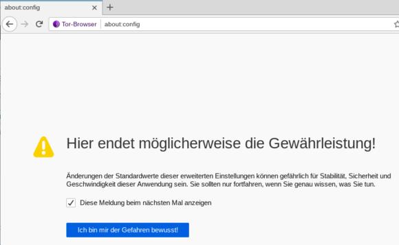 JavaScript manuell deaktivieren – about:config