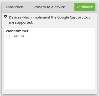 Unterstützung für Chromecast