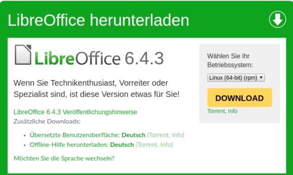 LibreOffice 6.4.3 ist verfügbar