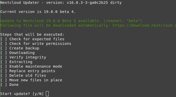 Nextcloud 19 Beta 5 ist verfügbar