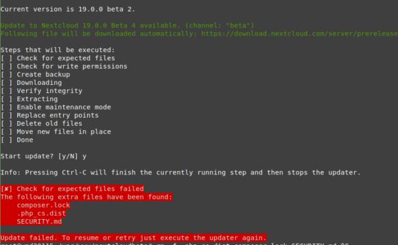 Update auf Beta 4 mit Sicherheitswarnungen