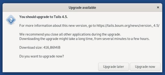 Tails 4.5 ist verfügbar