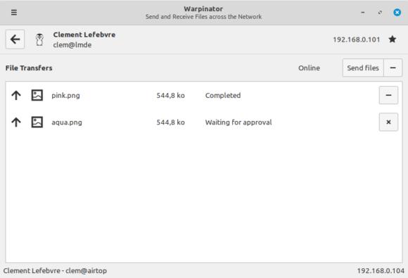 Linux Mint 20 wird mit dem Warpinator ausgestattet (Quelle: linuxmint.com)