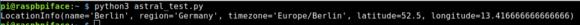 Astral hat die Standortdaten von Berlin in einer Datenbank gespeichert