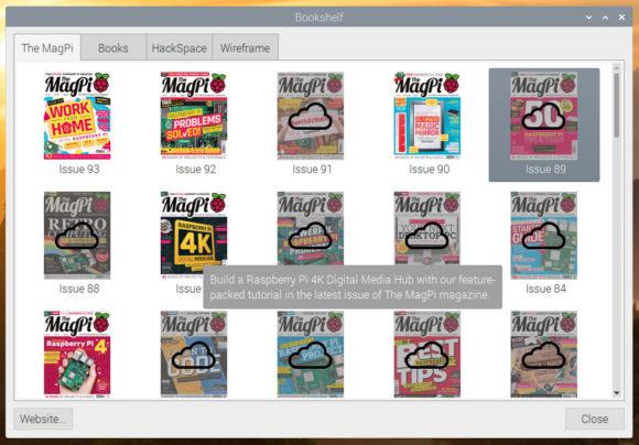 So sollten die Magazine im Raspberry Pi OS auftauchen (Quelle: raspberrypi.org)