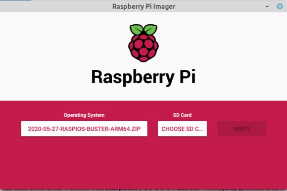 Raspberry Pi OS 64-Bit ist ausgewählt