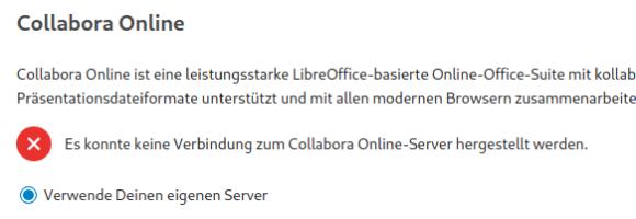 Kann keine Verbindung zum Server herstellen