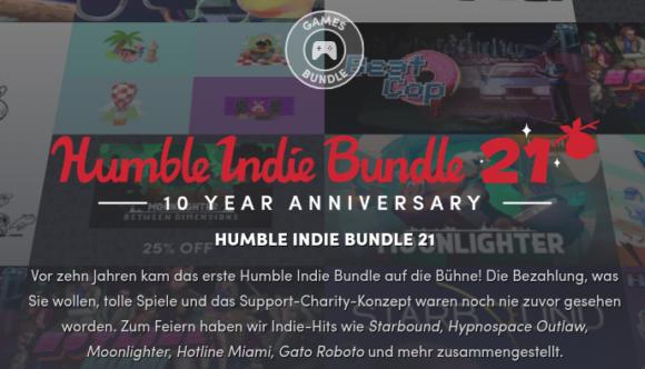 Happy Birthday! Humble Indie Bundle 21 ist da