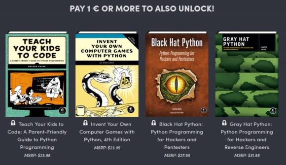 Für 1 € bekommst Du bei Learn You Some Python bereits 4 Bücher