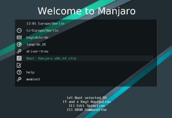 Manjaro Linux starten