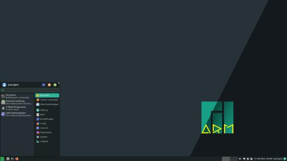 Manjaro Linux für Raspberry Pi 4 – Xfce-Variante