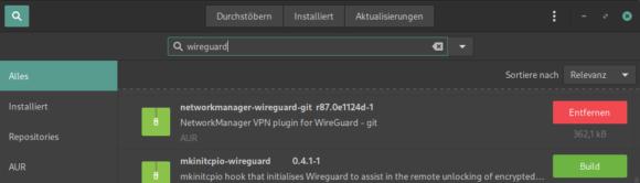 WireGuard VPN Plugin für NetworkManager installieren