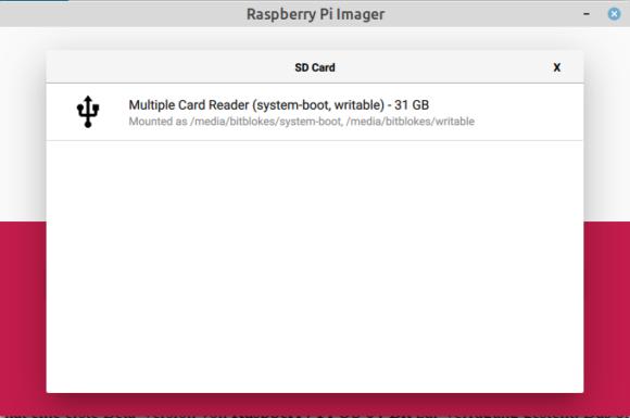 microSD-karte auswählen