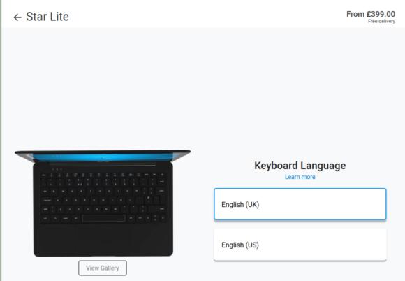 Star Lite Mk II mit Manjaro – allerdings keine deutsche Tastatur