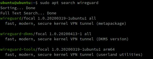 Die WireGuard-Pakete lassen sich einfach installieren