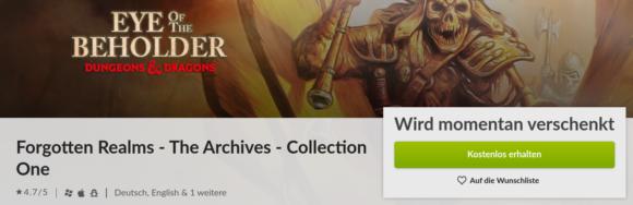 Eye of the Beholder Trilogie kostenlos bei Gog