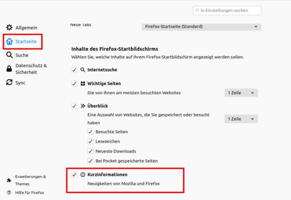 So deaktivierst Du die Kurzinformationen in Firefox