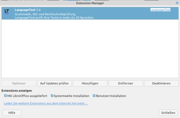 LanguageTool 5.0 für LibreOffice