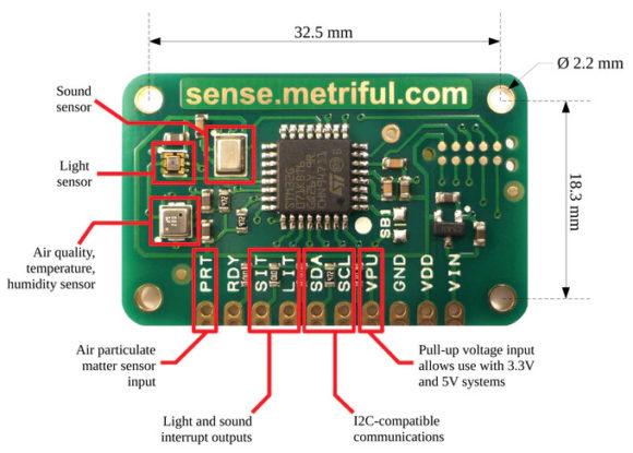 Sense – universeller Sensor für Raspberry Pi und Arduino (Quelle: kickstarter.com)