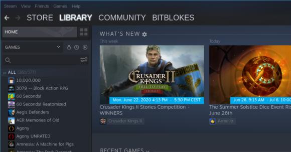 Steam darf irgendwie auch nicht fehlen