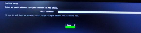 Anmeldung am Ubuntu-Konto ist Pflicht