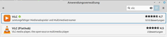 VLC muss auf mein System