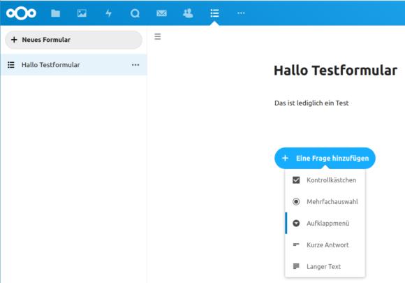 Mit Nextcloud Forms schnell Umfragen erstellen
