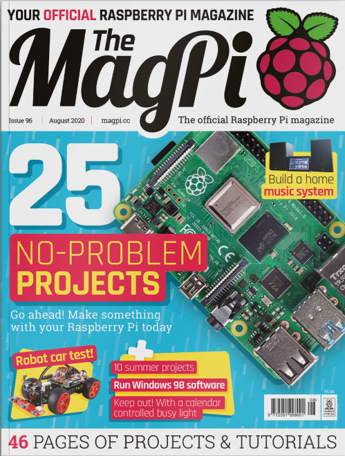 MagPi 96 mit 25 einfachen Projekten (Quelle: magpi.raspberrypi.org)
