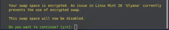 Mit verschlüsseltem Swap geht das nicht