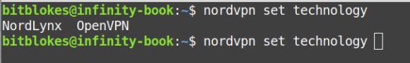 Du darfst Dich auch unter Linux zwischen OpenVPN und NordLynx entscheiden