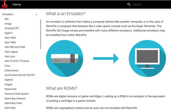 RetroPie unterstützt sehr viele Emulatoren