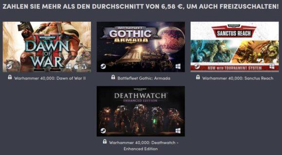 Humble Warhammer Bundle 2020 – Durchschnitt bei circa 7 €