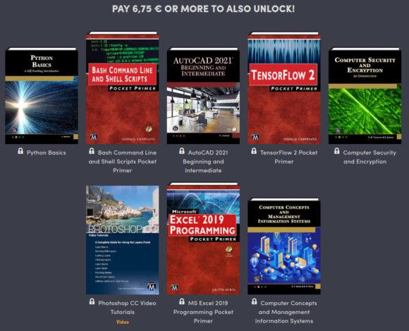 7 weitere Bücher und 1 Video kosten knapp unter 7 €