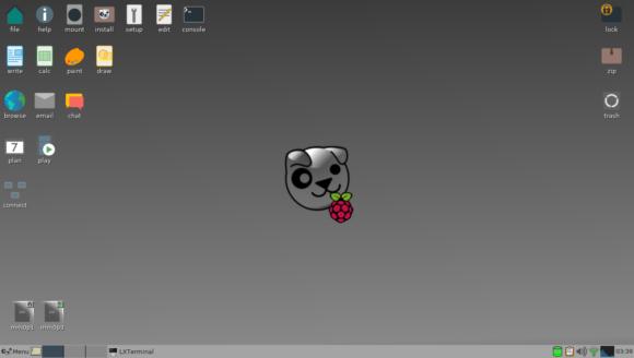 Raspup Desktop mit Fenstermanager JWM