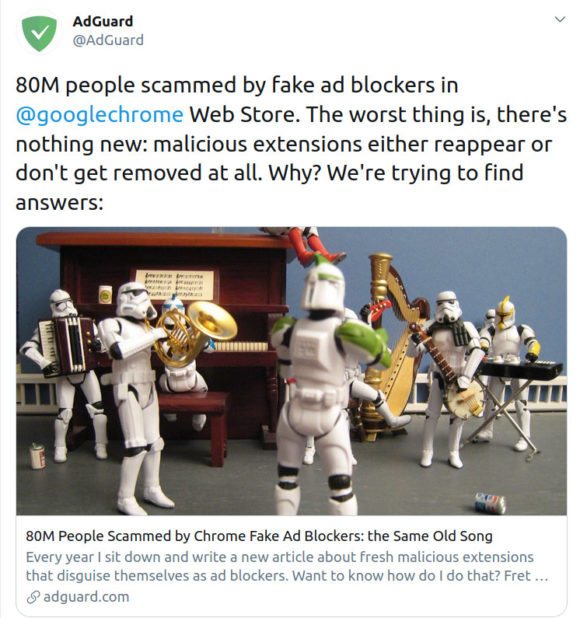 Gefälschte Adblocker sind eine Gefahr