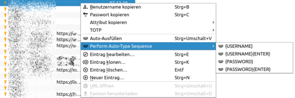 Neue Auto-Type-Option in KeePassXC 2.6.1