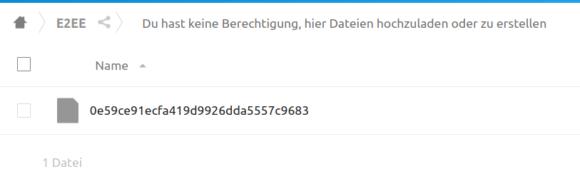 Mit E2EE verschlüsselt – keine Ahnung, was für eine Datei das ist