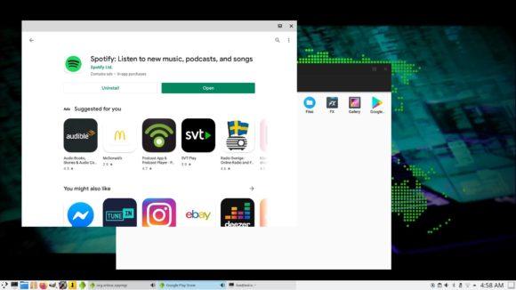 ExTiX 20.9 mit Anbox und Google Play Store (Quelle: extix.se)