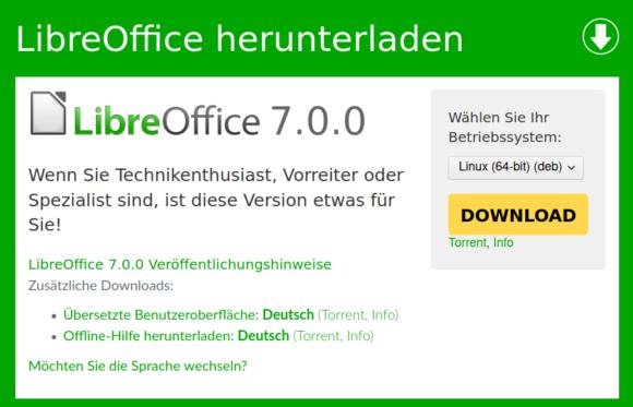 LibreOffice 7.0 ist da!