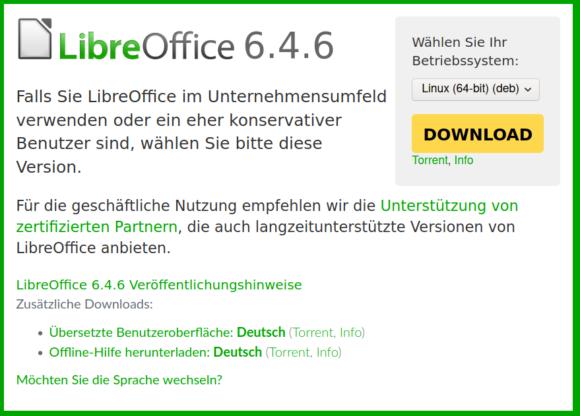 LibreOffice 6.4.6 ist veröffentlicht – Still