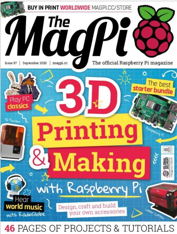 Schwerpunkt im MagPi 97 ist 3D-Druck