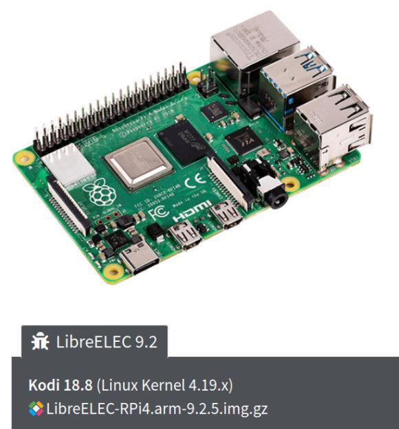 LibreELEC 9.2.5 wurde speziell für den Raspberry Pi 4 ausgegeben