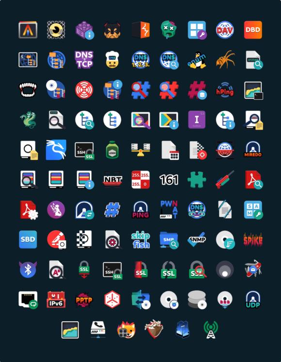Neue Icons für Kali Linux 2020.3 (Quelle: kali.org)
