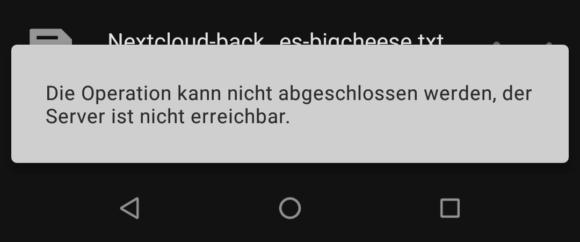 Unter Android ist ein Löschen auch nicht machbar
