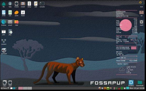 Fossapup64 Puppy 9.5 (Quelle: blog.puppylinux.com)