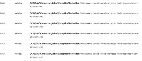 Server-Log bringt folgenden Fehler