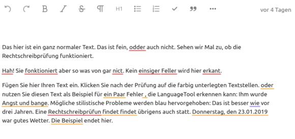 LanguageTool im Texteditor kann das besser