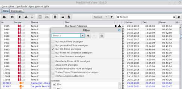Bei MediathekView 13.6.0 darfst Du mehrere Filter speichern